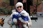 Two poodles and their mom!